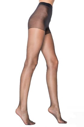 MiteLove Mite Love Külotlu Çorap Fit Şeffaf Burun Siyah Renk