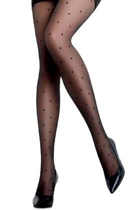 MiteLove Mite Love Puantiyeli Külotlu Çorap Siyah