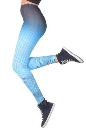 MiteLove Mite Love Çizgili Mavi Sporcu Kadın Tayt