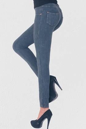 MiteLove Mite Love Fermuarlı Kadın Pantolon Tayt Gri